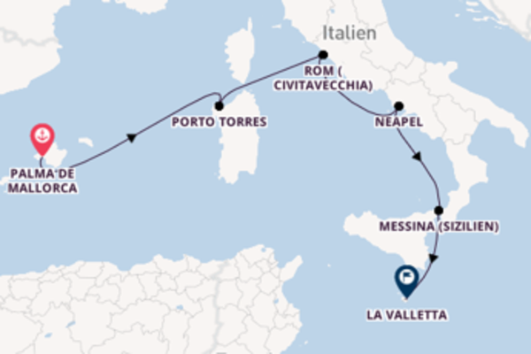 Erkunden Sie Porto Torres ab Palma de Mallorca