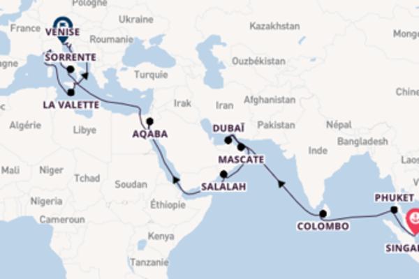 Sublime croisière avec Princess Cruises pendant 40 jours