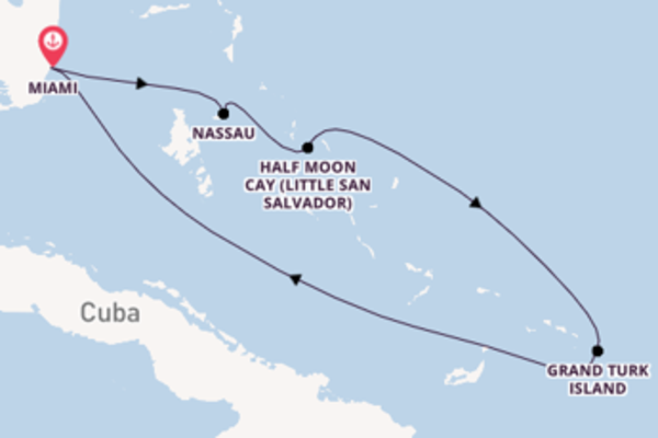 Voyage with Carnival Cruise Lines from Miami