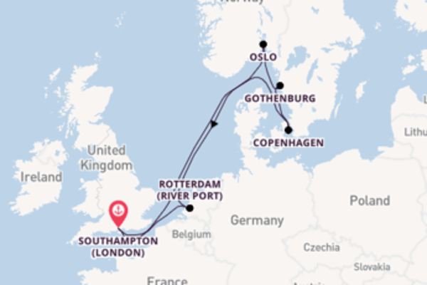 Cruising from Southampton (London) with the Queen Victoria