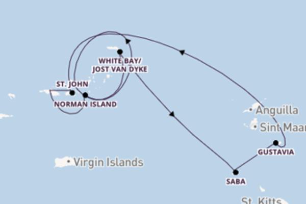Eindrucksvolle Kreuzfahrt mit der SeaDream II