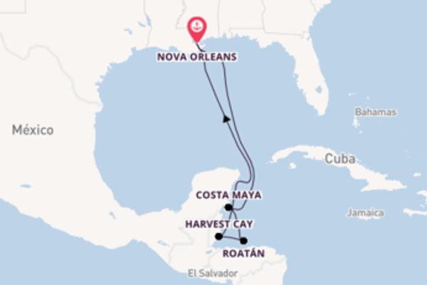 Jornada de 8 dias até Nova Orleans com o Norwegian Breakaway