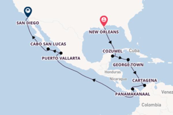 15-daagse cruise met de Disney Wonder vanuit New Orleans