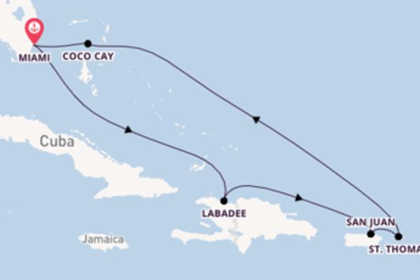 Cruise naar Miami via Coco Cay