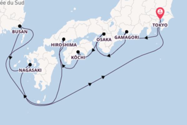 10 jours de navigation à bord du bateau Diamond Princess vers Tokyo