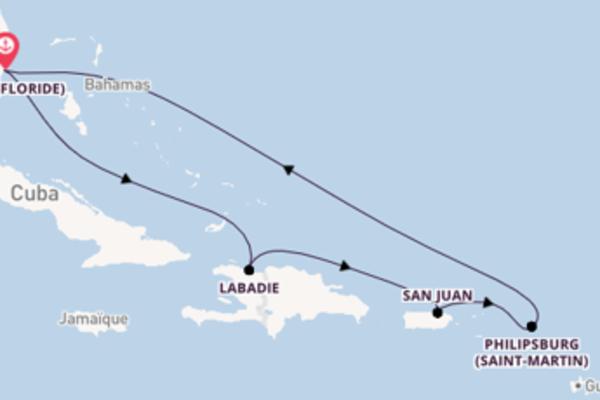 8 jours pour découvrir San Juan au départ de Miami (Floride)