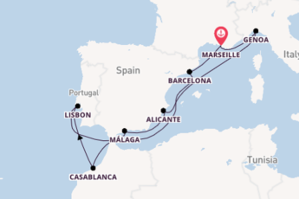 Voyage with MSC Cruises from Marseille
