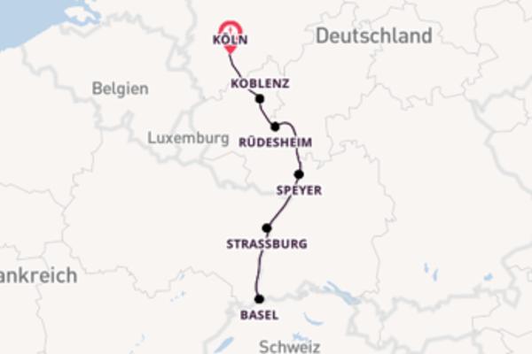 Von Köln über Speyer in 8 Tagen