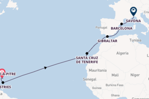 Santa Cruz de Tenerife verkennen met de Costa Fortuna