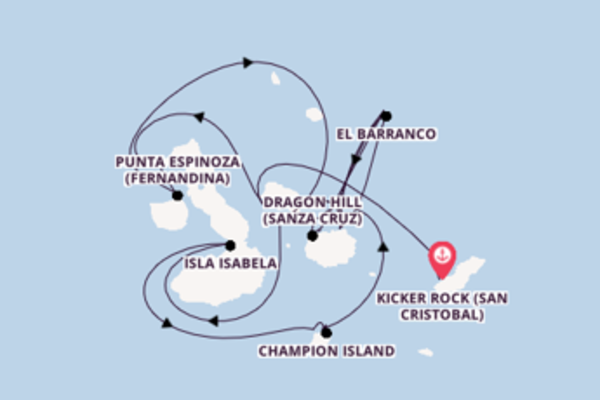 Expedition from Kicker Rock (San Cristobal) to Baltra via Punta Espinoza (Fernandina)
