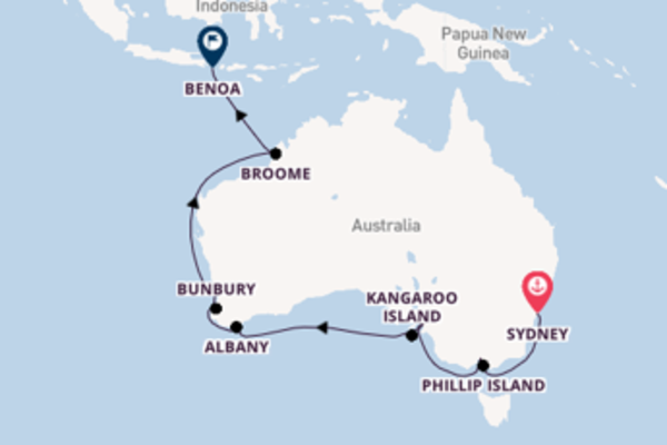Sailing with the Seabourn Sojourn to Benoa from Sydney