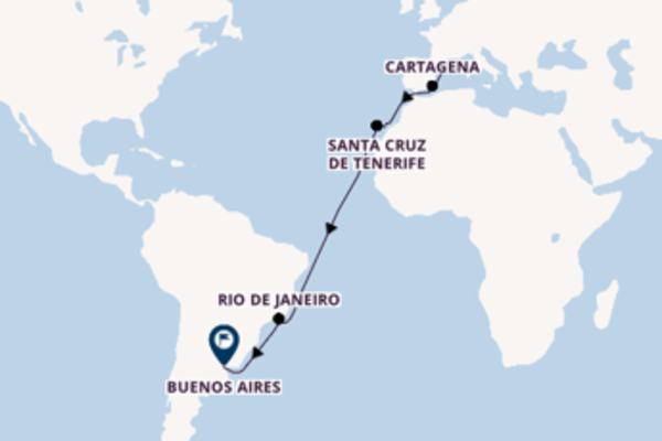 Sailing with Celebrity Cruises from Barcelona to Buenos Aires