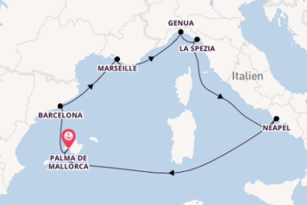 Kreuzfahrt mit der MSC Fantasia nach Palma de Mallorca
