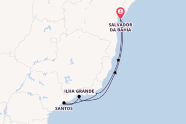 Sailing from Salvador da Bahia via Búzios