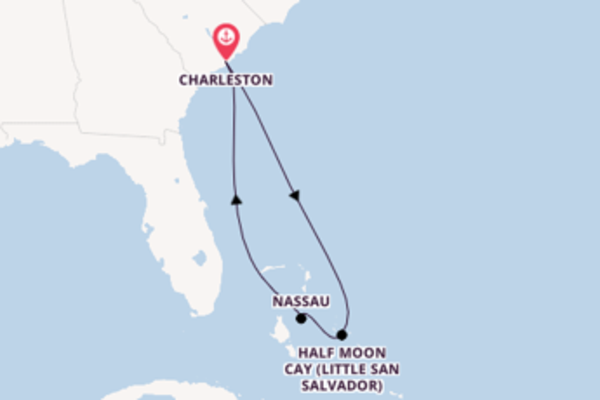 6 day cruise with the Carnival Sunshine to Charleston