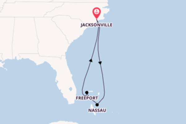 6 day cruise with the Carnival Ecstasy to Jacksonville