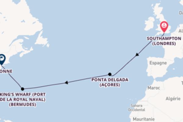 Ponta Delgada depuis Southampton pour une croisière de 13 jours