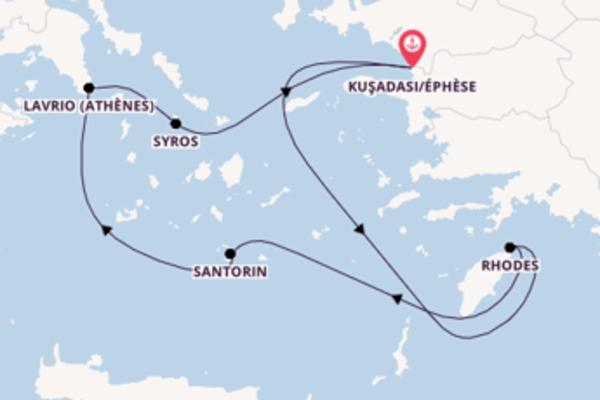Rhodes, depuis Kuşadası/Éphèse à bord du bateau Celestyal Olympia