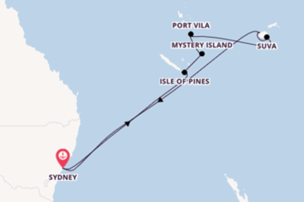 Cruising from Sydney via Isle of Pines