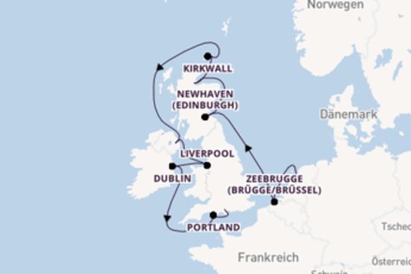 11 Tage auf der Norwegian Dawn verbringen