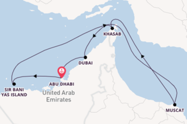 Trip with MSC Cruises from Abu Dhabi
