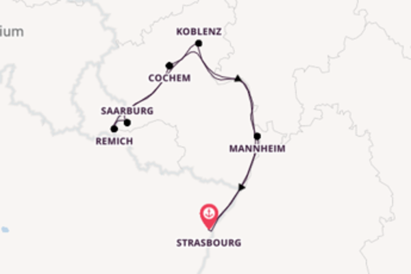 7 day cruise with the Leonard de Vinci to Strasbourg