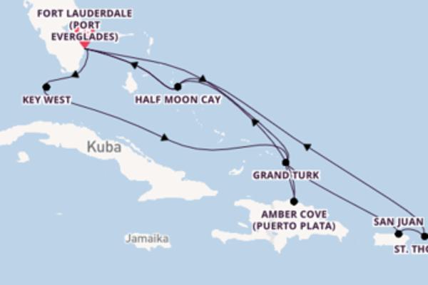 In 15 Tagen nach Fort Lauderdale über Fort Lauderdale