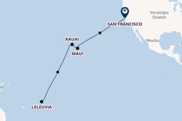 19-tägige Kreuzfahrt von Lautoka, Fiji nach San Francisco, USA