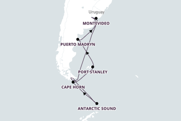 Picturesque Antarctic Sound from Buenos Aires with Azamara Quest