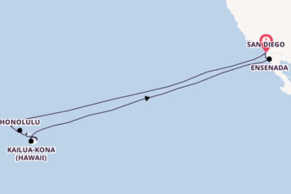 19 giorni di crociera fino a San Diego