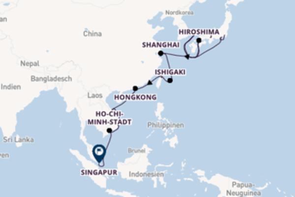 Von Tokio über Hongkong in 19 Tagen