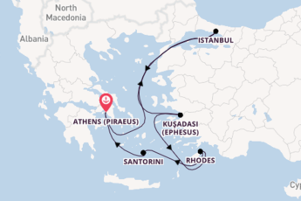 Voyage with Regent Seven Seas Cruises from Athens (Piraeus)