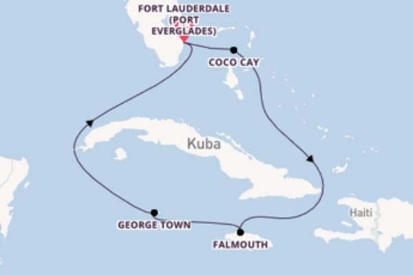 Herrliche Kreuzfahrt über Falmouth ab Fort Lauderdale (Port Everglades)