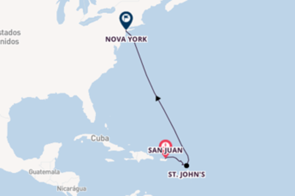 A bordo do Norwegian Epic em uma viagem de 8 dias