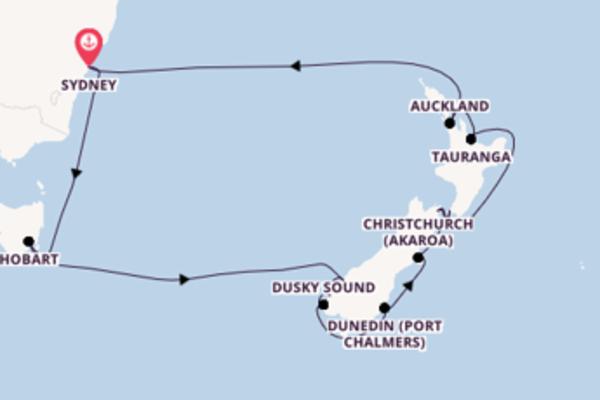 16 day voyage from Sydney