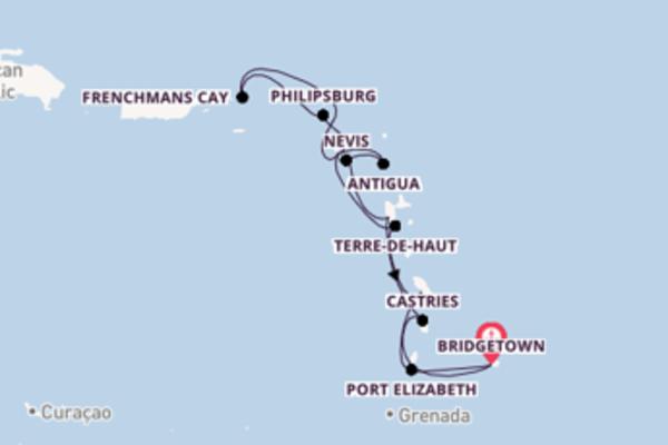 Passa per Port Elizabeth salpando da Bridgetown