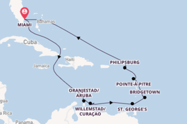 Sensational voyage from Miami with Oceania Cruises