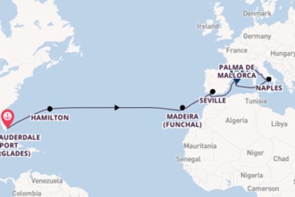 Sailing from Fort Lauderdale (Port Everglades) via Seville
