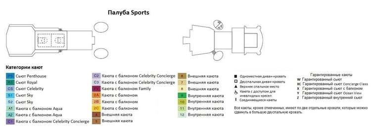 Celebrity Constellation Палуба 12: Sports