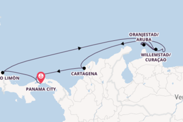 Voyage from Panama City with the Norwegian Jewel