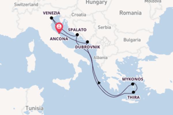 Lasciati affascinare da Spalato e Ancona