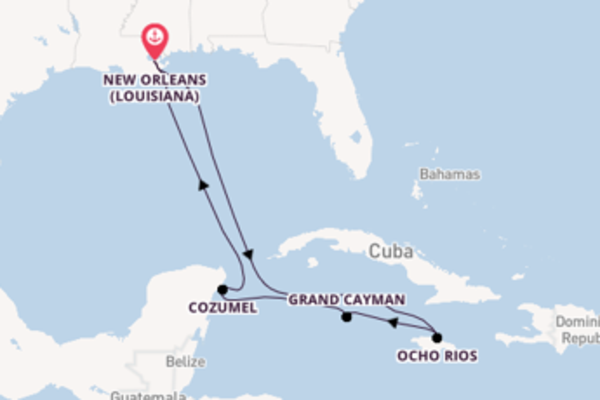 Viaggio di 8 giorni a bordo di Carnival Glory