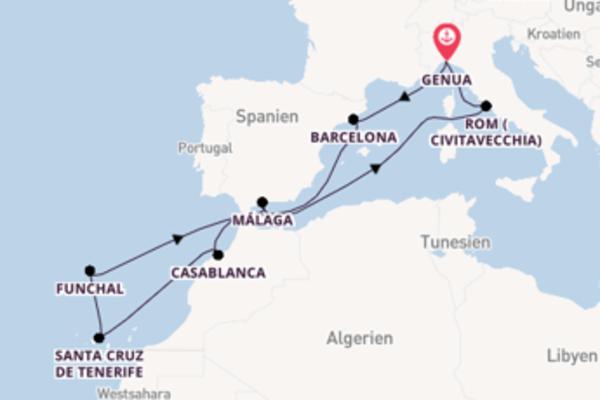 Außergewöhnliche Reise nach Genua