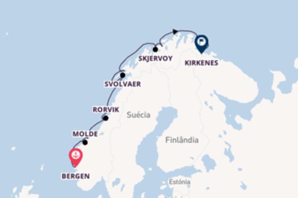 Fascinante cruzeiro de 7 dias a bordo do Polarlys
