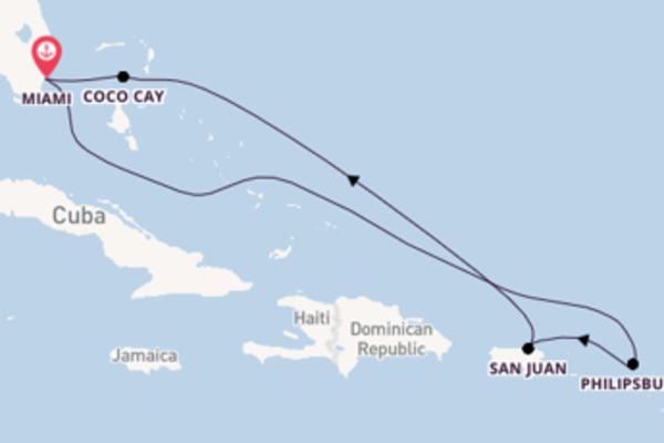 Navigando da Miami verso San Juan