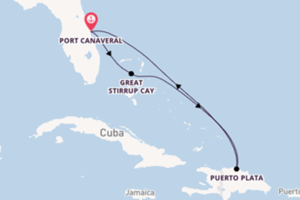Ontdek het spectaculaire Great Stirrup Cay