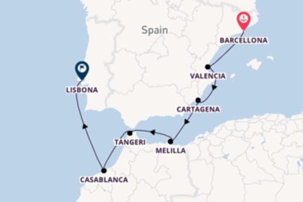 Deliziosa crociera verso Lisbona
