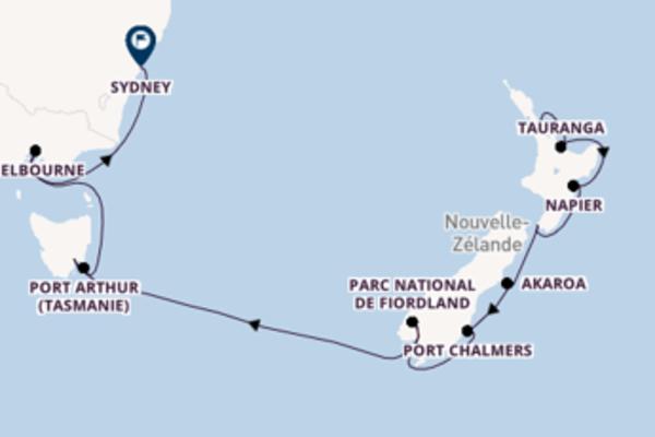 15 jours pour découvrir Port Chalmers au départ de Auckland