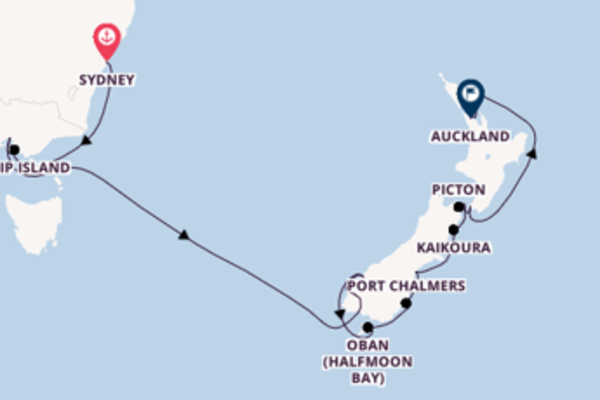 17 day cruise on board the Seabourn Encore from Sydney