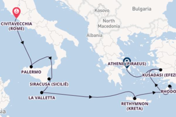 Ga mee op de Silver Shadow naar Athene (Piraeus)